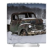 Just An Old Pickup Truck Shower Curtain