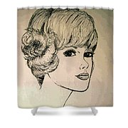 Just Another Pretty Face Shower Curtain