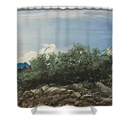 Just Another Windy Day Shower Curtain