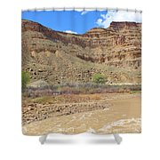 Just Around The River Bend 6 Shower Curtain