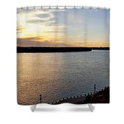 Just Around The River Bend Shower Curtain