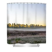 Just Before Dawn At Valley Forge Shower Curtain