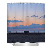 Just Before Sunrise In Asbury Park Shower Curtain
