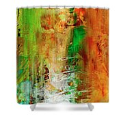 Just Being - Abstract Art Shower Curtain
