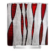 Just Bones - Ink Abstract Shower Curtain