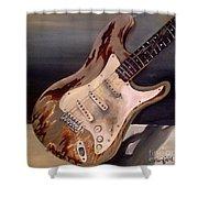Just Broken In- Old Guitar Shower Curtain