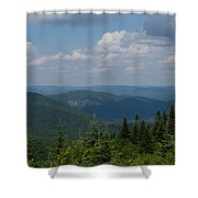 Just Climb Mountains And Breathe Deeply Shower Curtain
