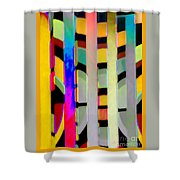 Just Color 2 Shower Curtain