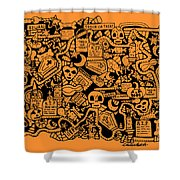 Just Halloweeny Things V7 Shower Curtain by Chelsea Geldean