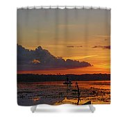 Just Like Fishin In Paradise Shower Curtain