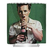 Just Like Old Times - Coca-cola Shower Curtain