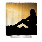 just  like that I'll be gone Shower Curtain