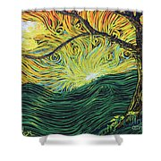 Just Over The Hill Too Shower Curtain