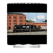 Just Plain Train Love Shower Curtain