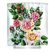 Just Roses Shower Curtain