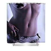 Just Stay Cool Shower Curtain