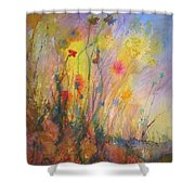 Just Weeds Shower Curtain