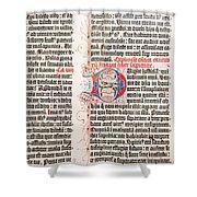Gutenberg Bible Shower Curtain
