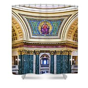 Justice Mural - Capitol - Madison - Wisconsin Shower Curtain