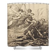 Justice, Vengeance, And Truth Shower Curtain