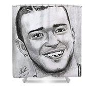 Justing Timberlake Portrait Shower Curtain