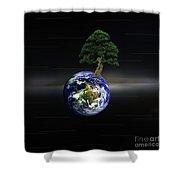 Juxtaposed Shower Curtain