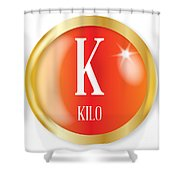 K For Kilo Shower Curtain