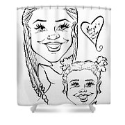 K J Shower Curtain