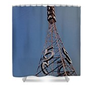 K T L A Channel 5 Shower Curtain