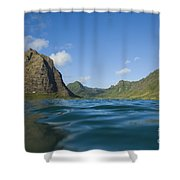 Kaaawa Valley From Ocean Shower Curtain by Dana Edmunds - Printscapes