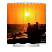 Kaanapali Beach Outrigger Sunset Shower Curtain
