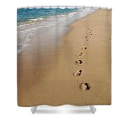 Kaanapali Footprints In The Sand Shower Curtain