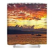 Ka'anapali Sunset Fire Shower Curtain