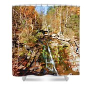 Flows Down The Cliff Shower Curtain