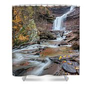Kaaterskill Falls Autumn Portrait Shower Curtain