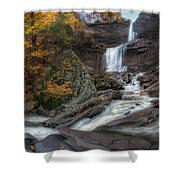 Kaaterskill Falls Autumn Square Shower Curtain