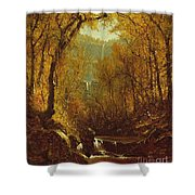 Kaaterskill Falls Shower Curtain by Sanford Robinson Gifford