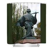 Kabuki Dancer Statue In Kyoto Shower Curtain