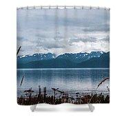 Kachemak Bay Pano Shower Curtain