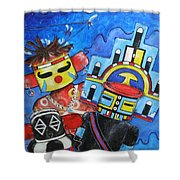 Kachina Knights Shower Curtain