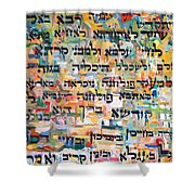 Kaddish After Finishing A Tractate Of Talmud Shower Curtain