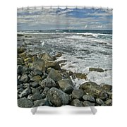 Kaena Point Shoreline Shower Curtain