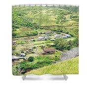 Kahakuloa Village Maui Hawaii Shower Curtain