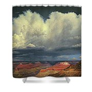 Kaibab Trail Storms Shower Curtain