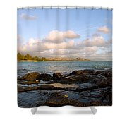Kailua Bay Sunrise Shower Curtain