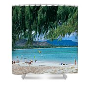Kailua Beach Park Shower Curtain