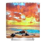 Kailua-kona Sunset Shower Curtain