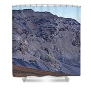 Kalahaku Pali And The Haleakala Crater Shower Curtain