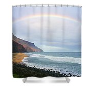Kalalau Beach Rainbow Shower Curtain