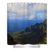 Kalalau Storm Clearing Shower Curtain